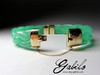 Bracelet from jadeite with gold