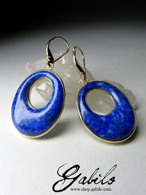 On order: gold earrings with lapis lazuli and malachite