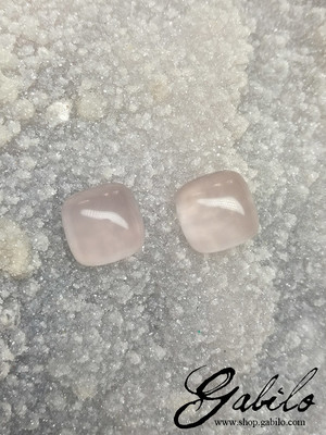 Rose quartz pair 10.50 ct
