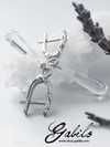 Rock Crystal Silver Earrings