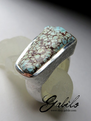 Male ring with turquoise