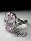 Silver ring with kunzite