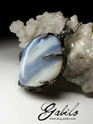 Boulder Opal Silver Necklace