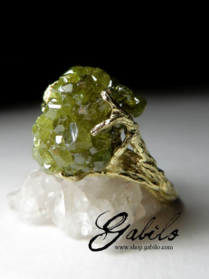 Demantoid Gold Ring