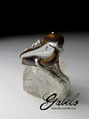 Fire Agate Silver Ring