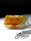 Large pendant with carnelian in silver