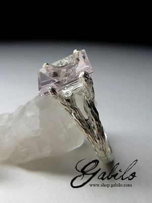 Silver Ring with Morganite