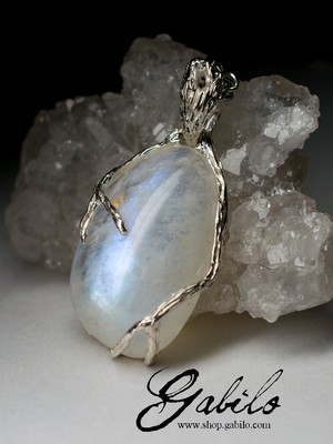 Moonstone White Gold Pendant