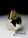 Silver ring with quartz