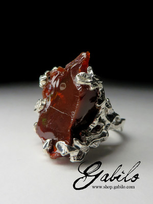 Chocolate Opal Silver Ring