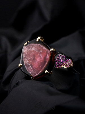Tourmaline and Sapphire Gold Ring