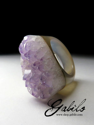 Quartz Solid Stone Ring