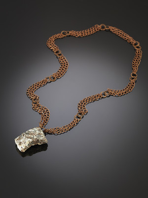 Astrophyllite in the breed on copper chains