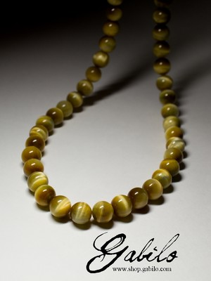 Beads from the tiger's eye