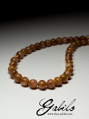 Aventurine Sunstone Beaded Necklace