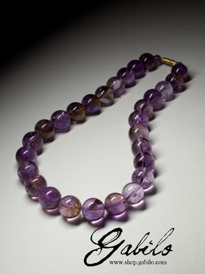 Big Ametrine Beaded Necklace