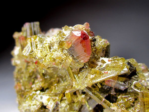The crystal of tourmaline
