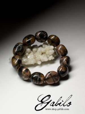 Bracelet from chiastolite