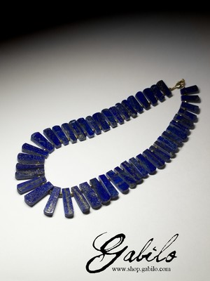 Necklace from lapis lazuli