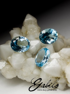 Topaz set of 6.40 carat