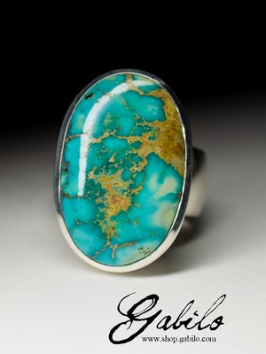 Ring with Iranian turquoise
