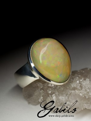Big Opal Silver Ring code 7250