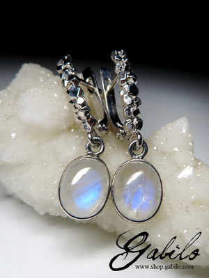 Adularia Moonstone Silver Earrings