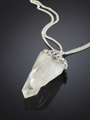 Rock crystal in silver