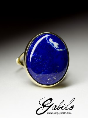 On request: a gold ring with lapis lazuli