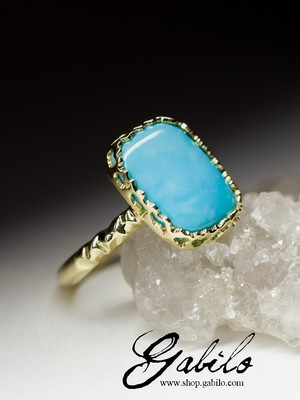 Blue Turquoise Gold Ring
