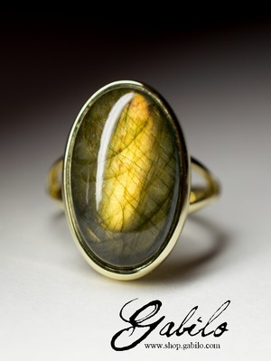 Made to order: Labradorite Gold Ring