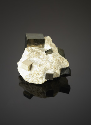 Pyrite in the rock