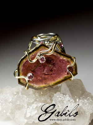 Made to order: Tourmaline Gold Ring