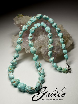 Beads from turquoise