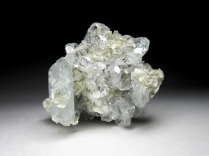 Crystals of aquamarine with muscovite