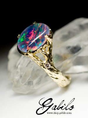 On order: Triplet Opal Gold Ring and Diamonds