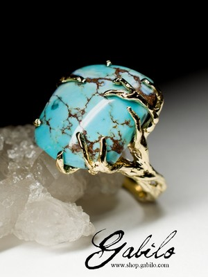 On order: Turquoise Gold Ring