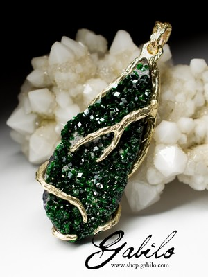 Made to order: Uvarovite Gold Pendant