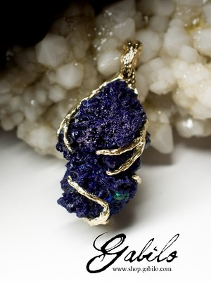 Azurite Gold Necklace