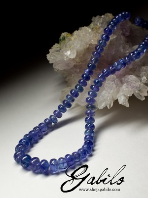 Unique Tanzanite Beaded Necklace