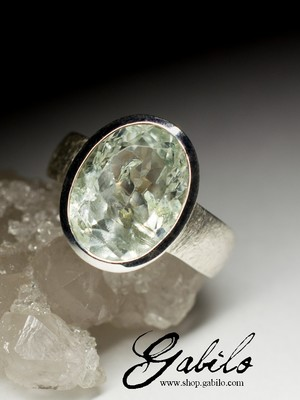 Made to order: Beryl silver ring