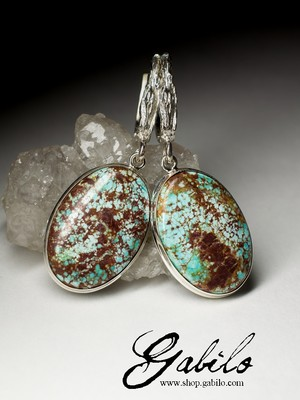 Earrings with turquoise in silver