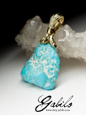 Made to order: Turquoise Gold Pendant