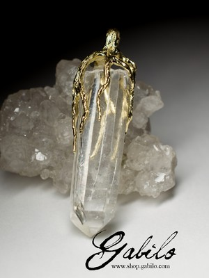 Rock Crystal Gold Pendant