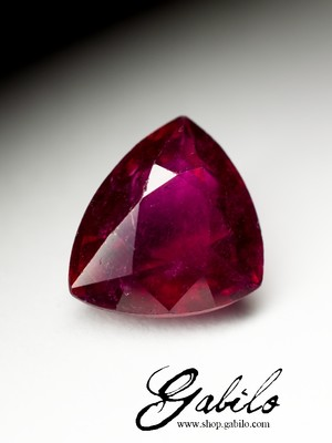 Rubellite Cut Triangle 4.20 carat