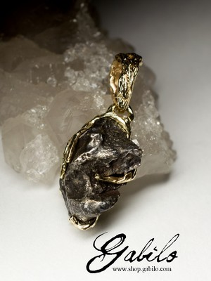 Made to order: Meteorite Gold Pendant
