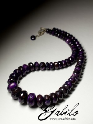 Large beads of sugilite