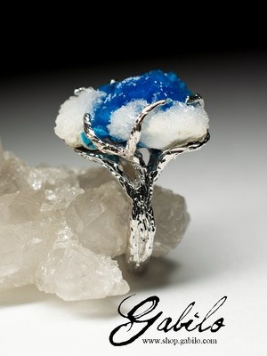 Cavansite Gold Ring
