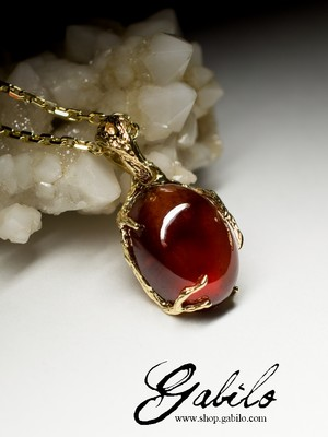 Hessonite Gold Pendant