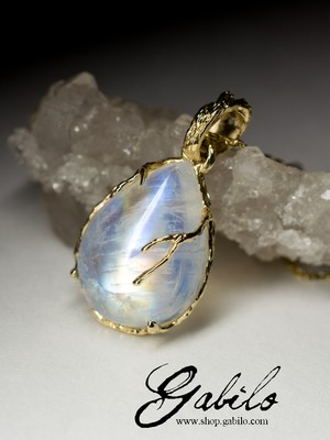 Made to order: Moonstone Gold Necklace